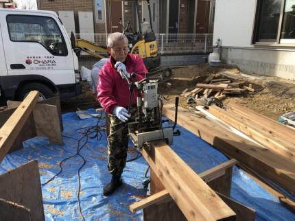 材木の加工です。|郡山市 新築住宅 大原工務店のブログ