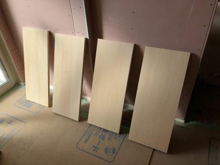 可動棚を塗装しました 郡山市富久山町  郡山市 新築住宅 大原工務店のブログ