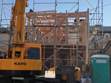 新築上棟の全体風景です。|郡山市 新築住宅 大原工務店のブログ