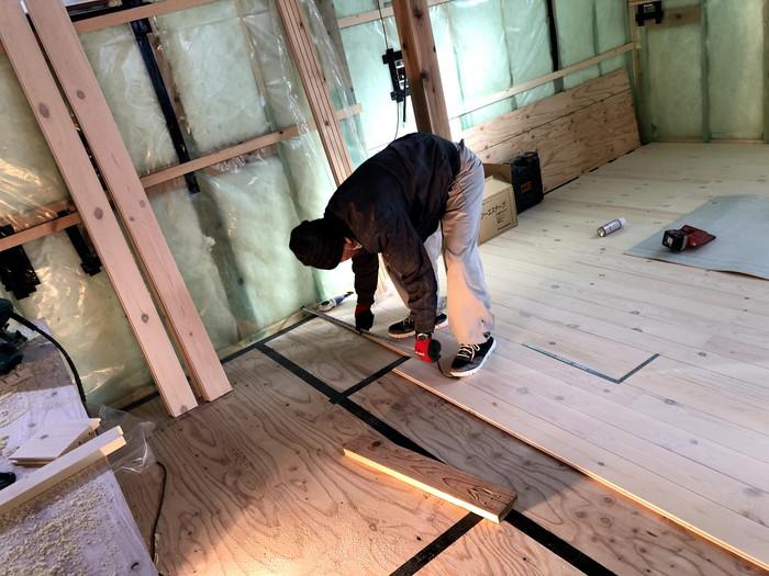 寸法を測ってから施工します。郡山市安積町  郡山市 新築住宅 大原工務店のブログ