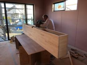 TVボードを造作です。|郡山市 新築住宅 大原工務店のブログ
