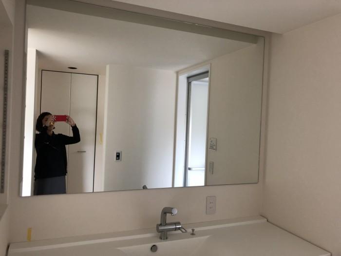 洗面の鏡が大きくて素敵です。|郡山市 新築住宅 大原工務店のブログ