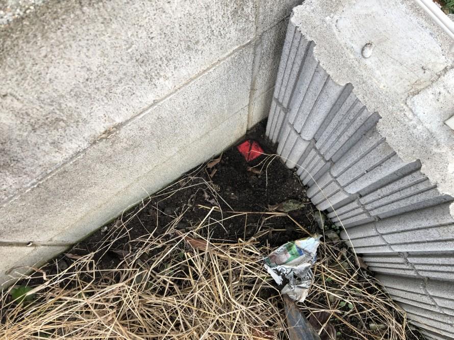掘らないと出てこない、シャイな境界杭|郡山市 新築住宅 大原工務店のブログ