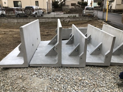 L型擁壁です。|郡山市 新築住宅 大原工務店のブログ