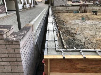 土留めのコンクリート打設です。|郡山市 新築住宅 大原工務店のブログ