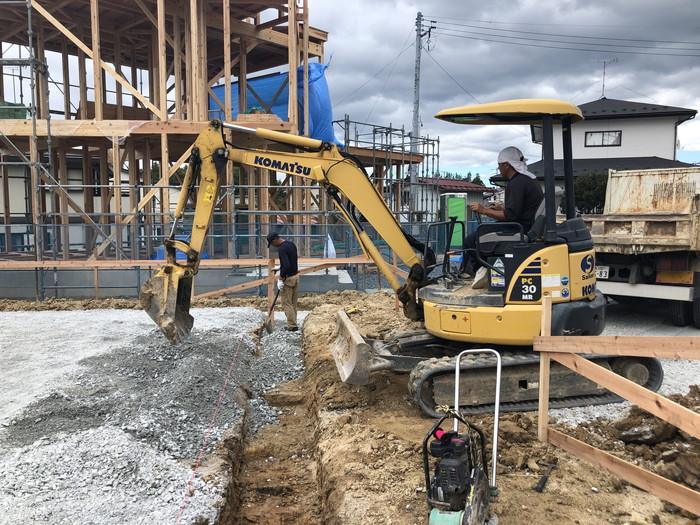 根切り工事が進んでます。須賀川市森宿  郡山市 新築住宅 大原工務店のブログ