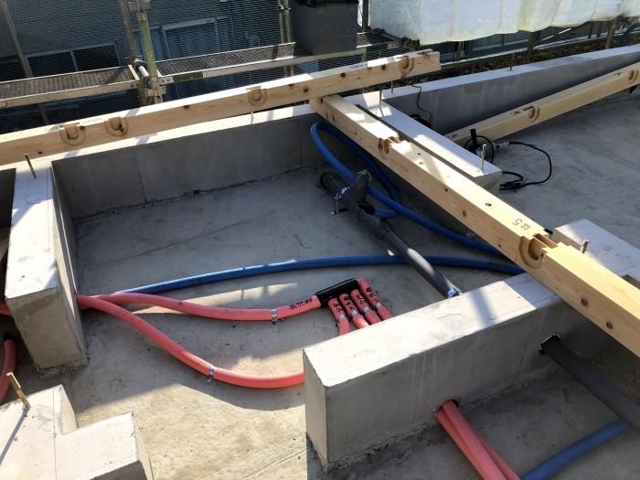 配管が施工された様子です。郡山市深沢| 郡山市 新築住宅 大原工務店のブログ