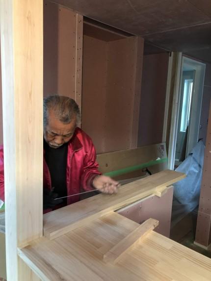 大工さんの造作です。|郡山市 新築住宅 大原工務店のブログ