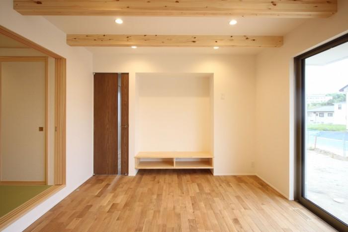造作のテレビ台です!| 郡山市 新築住宅 大原工務店のブログ