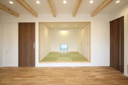 リビング+和室です。田村市船引町|郡山市 新築住宅 大原工務店のブログ