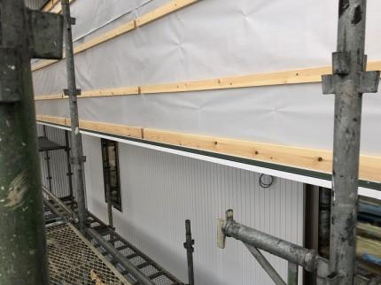 外壁貼りが進んでおります。田村市船引町|郡山市 新築住宅 大原工務店のブログ
