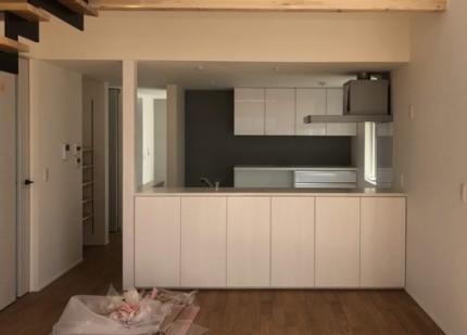 対面キッチンです。|郡山市 新築住宅 大原工務店のブログ