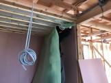 新築の気密シート施工です。|郡山市 新築住宅 大原工務店のブログ