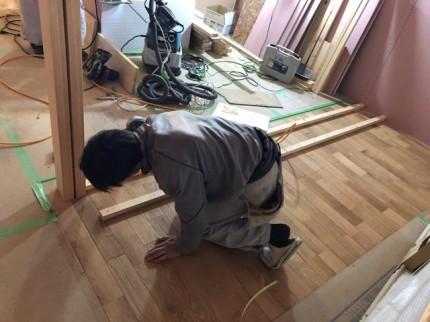 新築の造作棚作成です。|郡山市 新築住宅 大原工務店のブログ