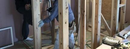 内部では木工事が進んでおります。田村市船引町|郡山市 新築住宅 大原工務店のブログ