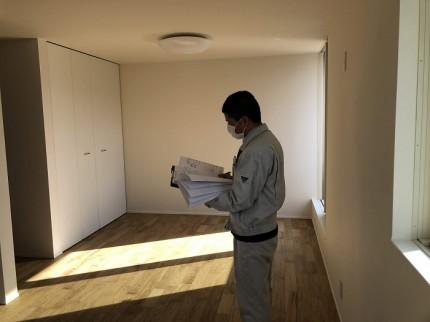 各居室の確認を行っています 郡山市開成 |郡山市 新築住宅 大原工務店のブログ