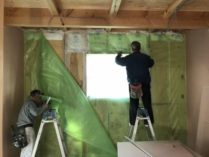 上棟検査が終わり大工工事が進みます | 郡山市 新築住宅 大原工務店のブログ
