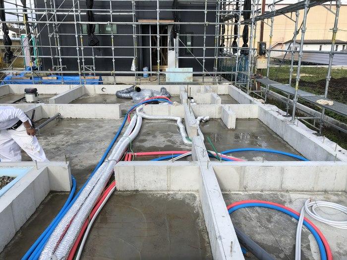 大原工務店の新築モデルハウスの基礎の様子です。郡山市安積町| 郡山市 新築住宅 大原工務店のブログ
