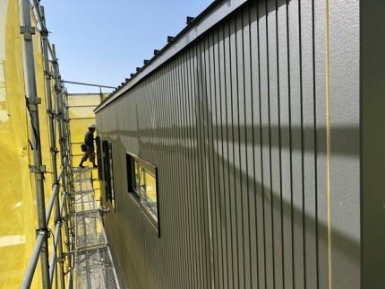外壁工事がほぼ完成です。|郡山市 新築住宅 大原工務店のブログ