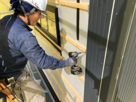 外壁の施工中です。|郡山市 新築住宅 大原工務店のブログ