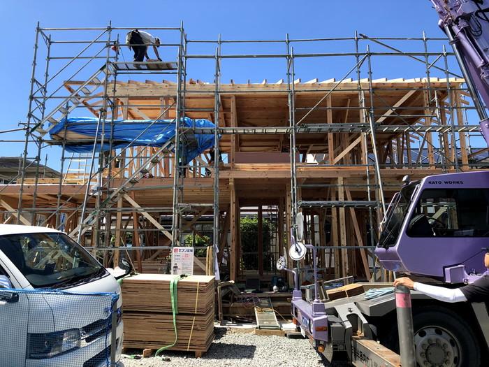 上棟のほぼ完了です。|郡山市 新築住宅 大原工務店のブログ