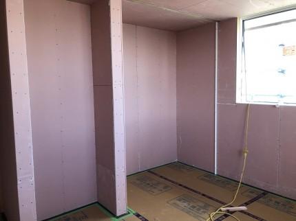 石膏ボード施工しております。郡山市大槻町|郡山市 新築住宅 大原工務店のブログ