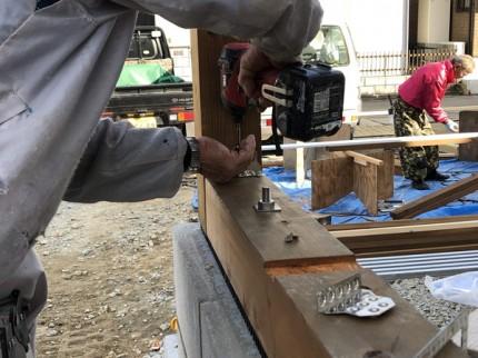 木製格子の躯体の組み上げです。|郡山市 新築住宅 大原工務店のブログ