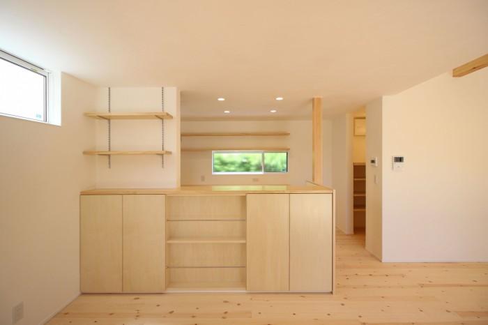 造作のキッチンカウンターです!| 郡山市 新築住宅 大原工務店のブログ