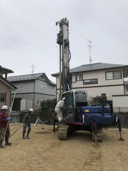 郡山市富田町で地盤改良工事|郡山市 新築住宅 大原工務店のブログ