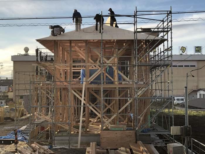 大原工務店の新築モデルハウス上棟しました。郡山市安積町| 郡山市 新築住宅 大原工務店のブログ