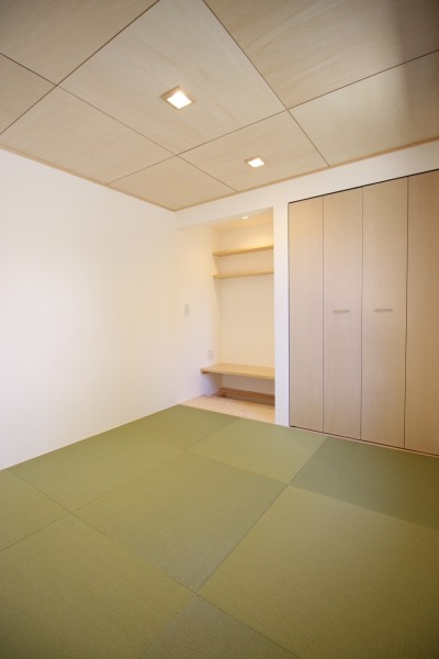 スタディコーナーのある和室です。|郡山市 新築住宅 大原工務店のブログ
