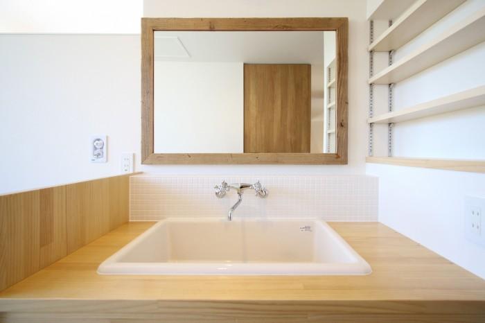 タイルが素敵な洗面台です!| 郡山市 新築住宅 大原工務店のブログ
