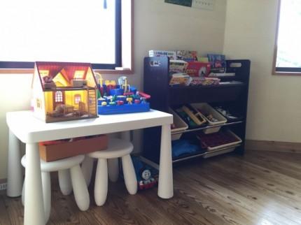 応接室にはお子様用におもちゃがあります。郡山市安積町|郡山市 新築住宅 大原工務店のブログ