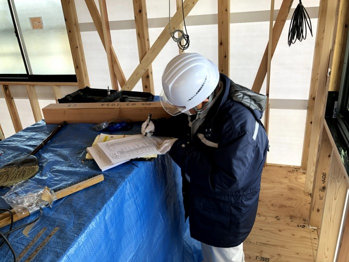 質疑応答による検査です。郡山市深沢 郡山市 新築住宅 大原工務店のブログ
