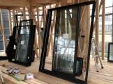 寄棟の自社モデルハウス サッシ入ってます。郡山市安積町| 郡山市 新築住宅 大原工務店のブログ