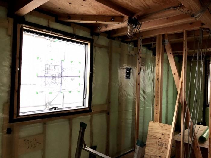 防湿・気密シートの施工です。須賀川市森宿  郡山市 新築住宅 大原工務店のブログ