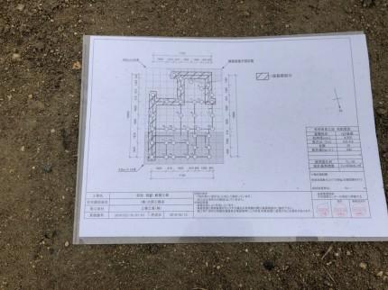 地盤改良工事の図面です。|郡山市 新築住宅 大原工務店のブログ