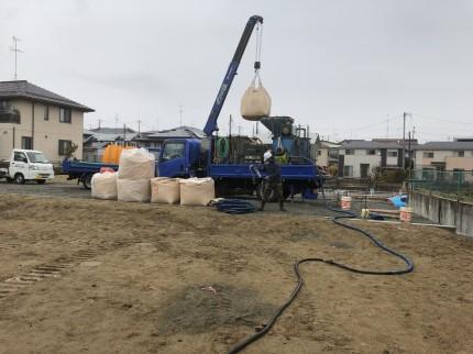 柱状改良に使うセメント固化材|郡山市 新築住宅 大原工務店のブログ