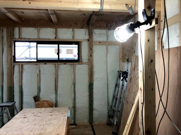 断熱材施工後の様子です。郡山市深沢|郡山市 新築住宅 大原工務店のブログ
