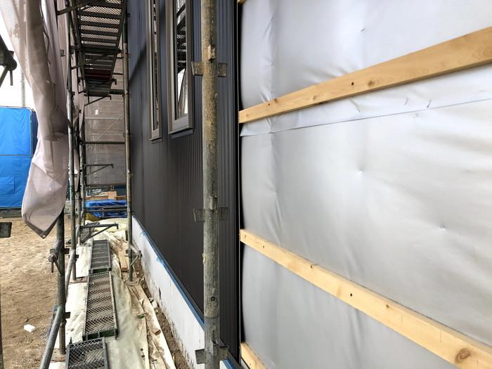 外壁施工進んでます。郡山市喜久田町| 郡山市 新築住宅 大原工務店のブログ