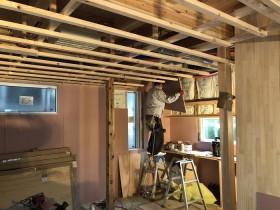 壁の石膏ボードを施工しています。郡山市亀田|郡山市 新築住宅 大原工務店のブログ