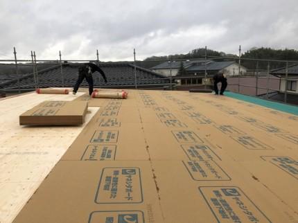 ヤネシタボードの施工