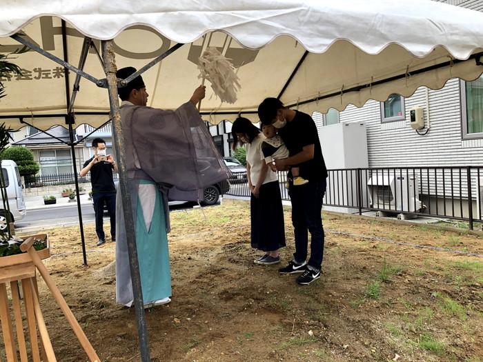 地鎮祭のお祓いです。|郡山市 新築住宅 大原工務店のブログ