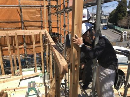 新築上棟の梁架けです。|郡山市 新築住宅 大原工務店のブログ