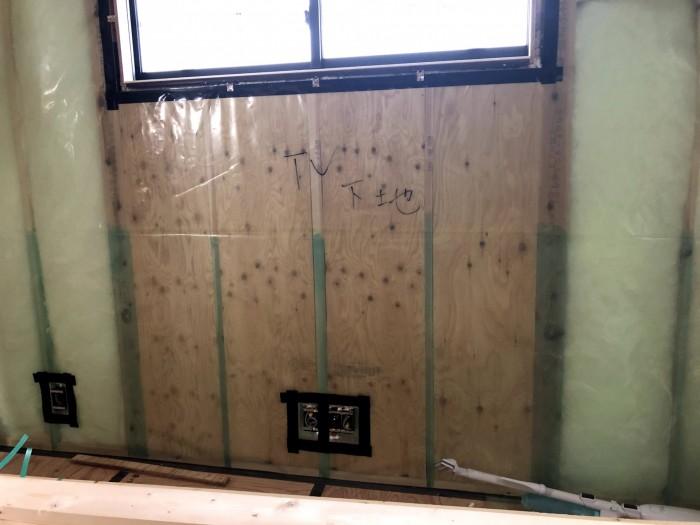 コンセントボックスの気密処理です。郡山市深沢|郡山市 新築住宅 大原工務店のブログ