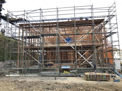 新築住宅の上棟完了です。|郡山市 新築住宅 大原工務店のブログ