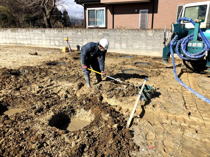 地盤改良を行いました。郡山市片平町  郡山市 新築住宅 大原工務店のブログ