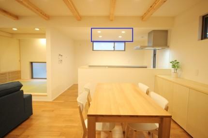 キッチンの照明です。|郡山市 新築住宅 大原工務店のブログ