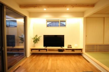 造作のテレビボードです。郡山市安積町| 郡山市 新築住宅 大原工務店のブログ