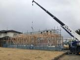 建て方の様子です 岩瀬郡鏡石町 |郡山市 新築住宅 大原工務店のブログ